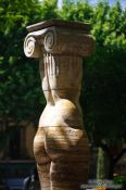 Travel photography:Sculpture in the S´Hort del Rei park in Palma, Spain