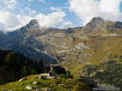 Travel photography:View from the La Renclusa refuge at the base of the Aneto mountain, Spain