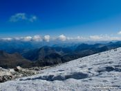 Travel photography:View from the glacier below the Aneto mountain, Spain