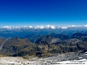 Travel photography:View from the glacier below the Aneto, Spain