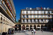 Travel photography:The plaza de la constitución (constitution square) in San Sebastian, Spain