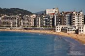 Travel photography:View of la Concha bay in San Sebastian, Spain