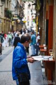 Travel photography:San Sebastian street life, Spain