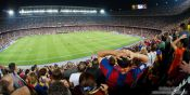 Travel photography:Spectators in Camp Nou stadium, Spain