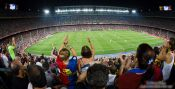 Travel photography:Spectators in Camp Nou between fury and ..., Spain