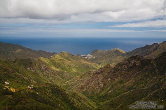 Panoramic view over Tenerife´s Anaga Rural Park
