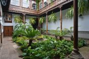Travel photography:Patio in a house in San Cristobal de la Laguna, Spain
