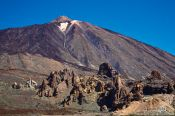 Travel photography:View of Teide Volcano with rock formations, Spain