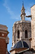 Travel photography:Church tower in Valencia, Spain