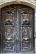 Travel photography:Wooden door in Valencia, Spain