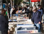 Travel photography:Book vendors in Valencia, Spain