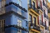 Travel photography:Facades in Valencia´s old town, Spain