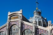 Travel photography:Facade of the market in Valencia, Spain