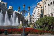 Travel photography:Fountain in Valencia, Spain