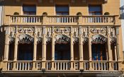Travel photography:Facade detail in Valencia, Spain