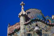 Travel photography:Roof detail of Casa Batlló in Barcelona, Spain