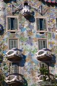 Travel photography:Facade of the Casa Batlló in Barcelona, Spain