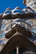 Travel photography:Facade detail with balconies on Casa Batlló, Spain