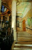 Travel photography:Stairway in Casa Pedrera in Barcelona, Spain