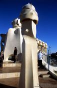 Travel photography:On top of Casa Pedrera in Barcelona, Spain