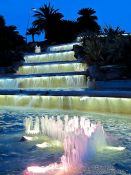 Travel photography:Fountain in Barcelona´s Montjuïc park, Spain
