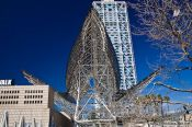 Travel photography:Giant whale sculpture at Barcelona´s Passeig Marítim, Spain