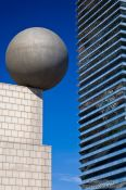 Travel photography:Modern cityscape at Barcelona´s Passeig Maritim, Spain