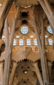 Travel photography:State of the interior of the Sagrada Familia Basilica in 2002, Spain