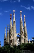 Travel photography:The Sagrada Familia Basilica in Barcelona (state of 2002), Spain