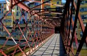 Travel photography:Bridge in Girona, Spain