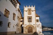 Travel photography:Old city in Sitges, Spain