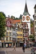 Travel photography:Houses in Sankt Gallen , Switzerland