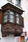 Travel photography:Facade in Sankt Gallen , Switzerland