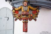 Travel photography:Facade detail in Sankt Gallen , Switzerland
