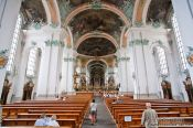 Travel photography:The Stiftskirche church in Sankt Gallen , Switzerland