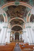 Travel photography:Inside the Stiftskirche church in Sankt Gallen , Switzerland