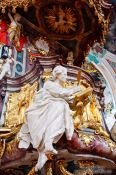 Travel photography:Pulpit inside the Sankt Gallen Stiftskirche church, Switzerland