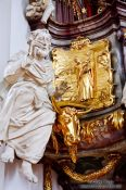 Travel photography:Sculpture on the pulpit in the Sankt Gallen Stiftskirche church, Switzerland
