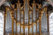 Travel photography:Organ in the Sankt Gallen Stiftskirche church, Switzerland