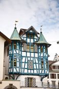 Travel photography:Half-timbered house in Sankt Gallen , Switzerland