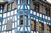 Travel photography:Facade of a half-timbered house in Sankt Gallen, Switzerland