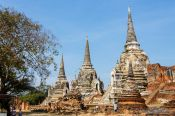 Travel photography:Main stupas in Ayutthaya, Thailand