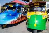 Travel photography:Local tuk-tuks in Ayutthaya, Thailand