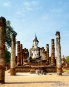 Travel photography:Giant Buddha at the Sukhothai temple complex, Thailand