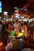 Travel photography:Pat Thai noodle seller on Bangkok´s Khao San Road , Thailand