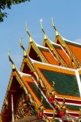 Travel photography:Typical Thai temple architecture at Wat Pho in Bangkok, Thailand