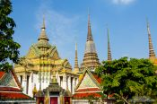 Travel photography:Wat Pho temple in Bangkok, Thailand