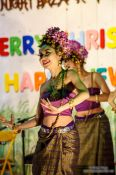 Travel photography:Christmas dance performance in Chiang Rai, Thailand
