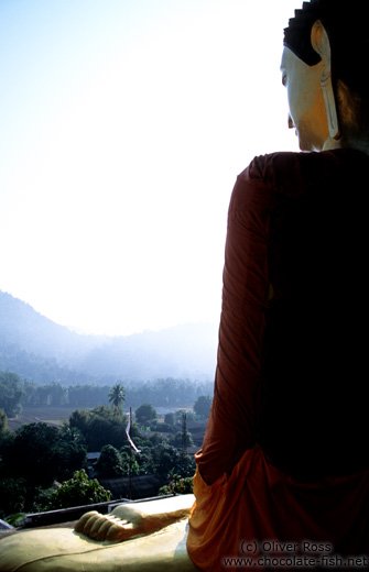 Giant Buddha guarding a valley near Chiang Rai