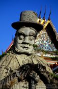 Travel photography:Stone statue in Wat Pho, Thailand